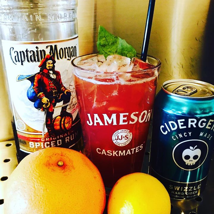 Have you tried our Hot Swizzle? Captain, grapefruit, lemon, pomegranate syrup, basil, and @rhinegeist…