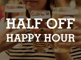 Stop in today for our Half Off Happy Hour from 4-7pm! 1/2 off all…