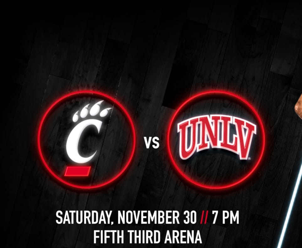 UC Men's Basketball takes on UNLV tonight at 7pm! Stop in before or after the g…